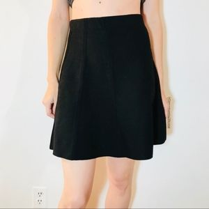 ZARA BASIC STRETCH MINI SKIRT KNIT BLACK S 0188